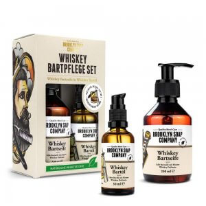 Brooklyn Soap Company Bartshampoo & Bart-Öl mit feinsten Whiskey-Duftnoten